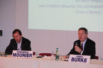 Frédéric Mounier et Greg Burke