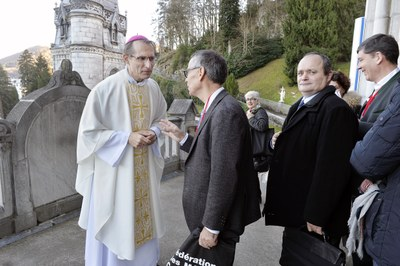 Mgr Nicolas Brouwet, Joseph Sinasac, Jean-Marie Montel, Hugues de Foucauld