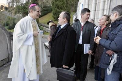 Mgr Nicolas Brouwet, Jean-Marie Montel, Hugues de Foucauld et Stépahnie Chauveau