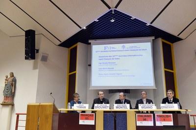 Discours d'ouverture avec Helen Osman, Mgr Nicolas Brouwet, Jean-Marie Montel, Mons. Dario Vigano