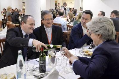 Jean-Marie Montel, Mons. Dario Edoardo Vigano, Pascal Ruffenach et Philippine de Saint-Pierre