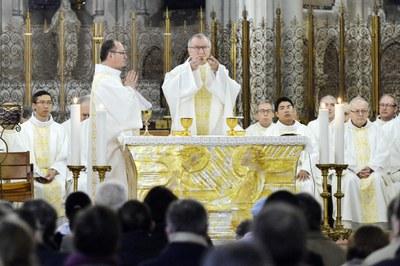 Messe dans la Basilique de l'Immaculée-Conception