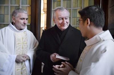 Père André Antoni avec Son Eminence le Cardinal Pietro Parolin
